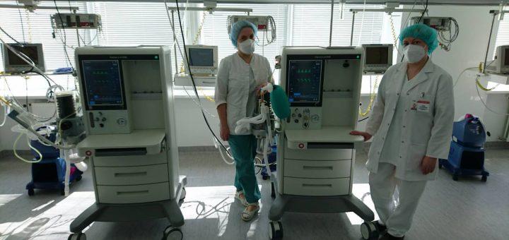 Uosto kompanijos Klaipėdai dovanos penkis plaučių ventiliacijos aparatus