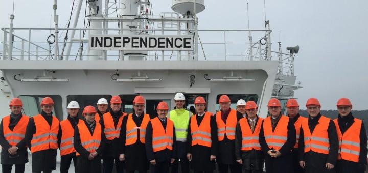 """Asociacijos narių apsilankymas laive """"Independence"""""""