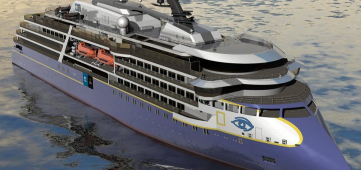 Western Baltija Shipbuilding constructing superstructure blocks for an expedition cruise ship