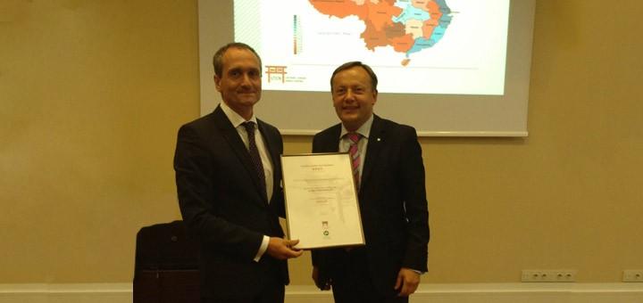 Asociacijai buvo įteiktas Lietuvos – Kinijos verslo tarybos prie LPK nario pažymėjimas