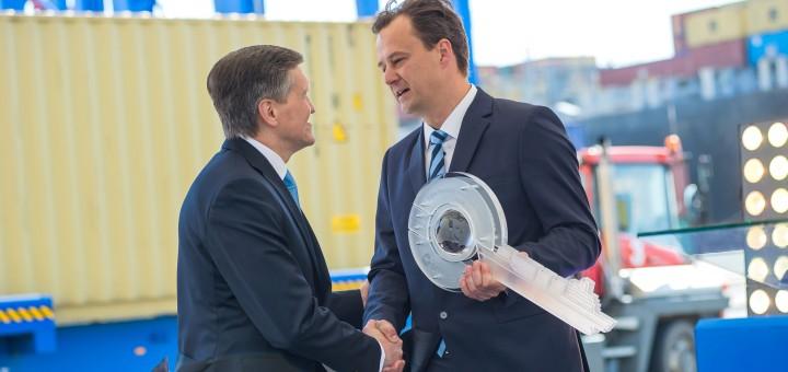 """LKAB """"Klaipėdos Smeltė"""" konteinerių paskirstymo centro (HUB-o)  atidarymas"""
