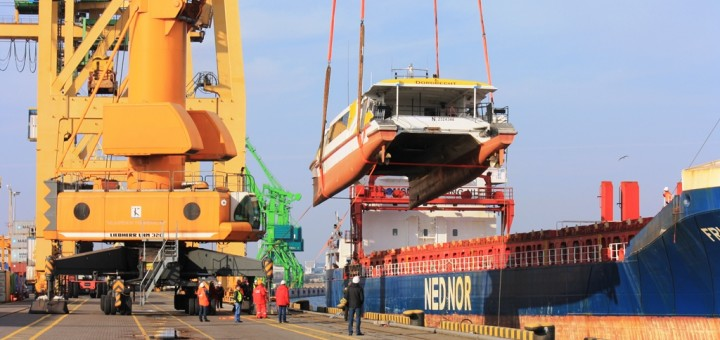 Catamaran has been delivered to Container Terminal