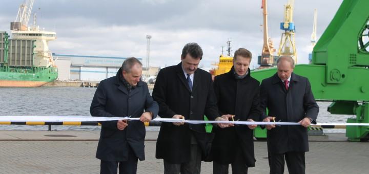 Klaipėdos uostas praplėstas nauja krantine