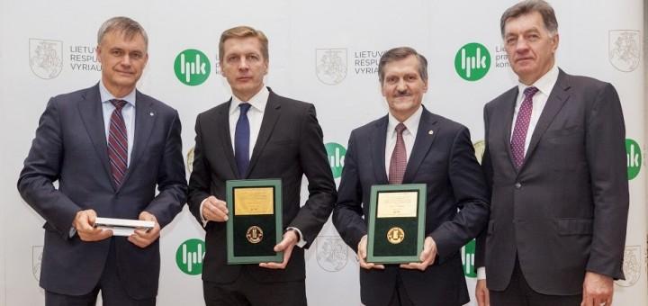 """LKAB """"Klaipėdos Smeltė"""" ir VĮ KVJUD apdovanojimas LPK konkurse """"Lietuvos metų gaminys 2015"""""""