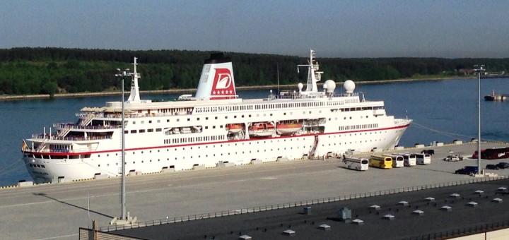 Pirmasis kruizinis laivas Klaipėdos centriniame terminale