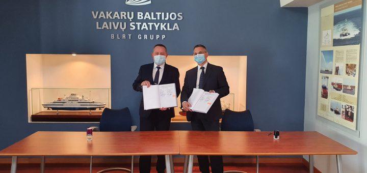"""UAB """"Vakarų Baltijos laivų statykla"""" statys naują keltą AB """"Smiltynės perkėlai"""""""