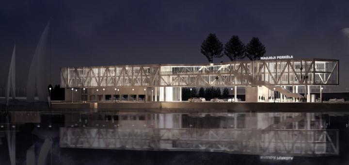 """""""Smiltynės perkėlos"""" naujasis terminalas: nuo modernių laukimo salių iki laivų remonto dirbtuvių"""
